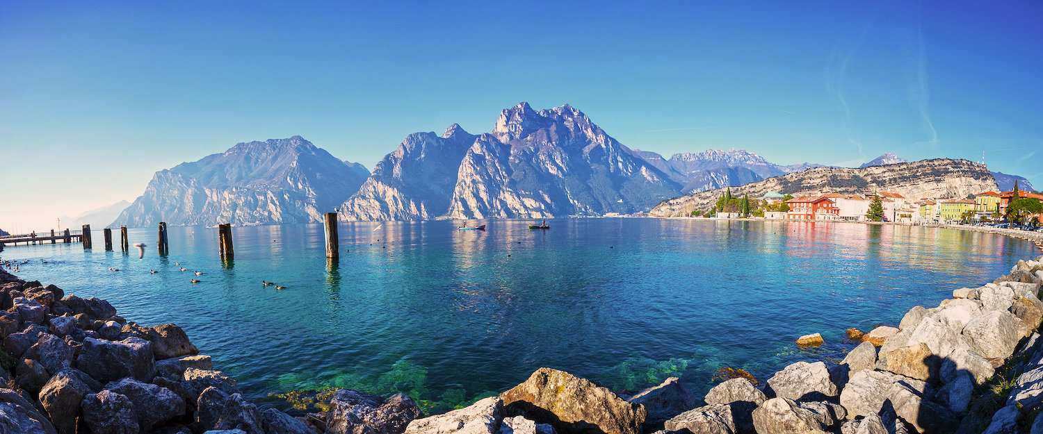 View of Lake Garda from Torbole