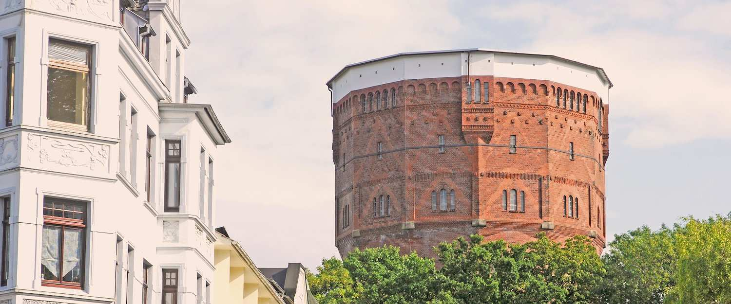 De watertoren in Wilhelmshaven.