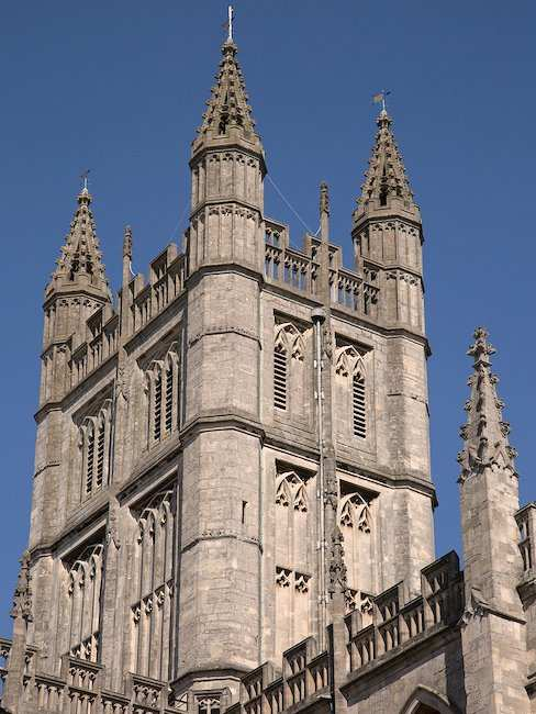 Tower of the abbey church Bath Abbey