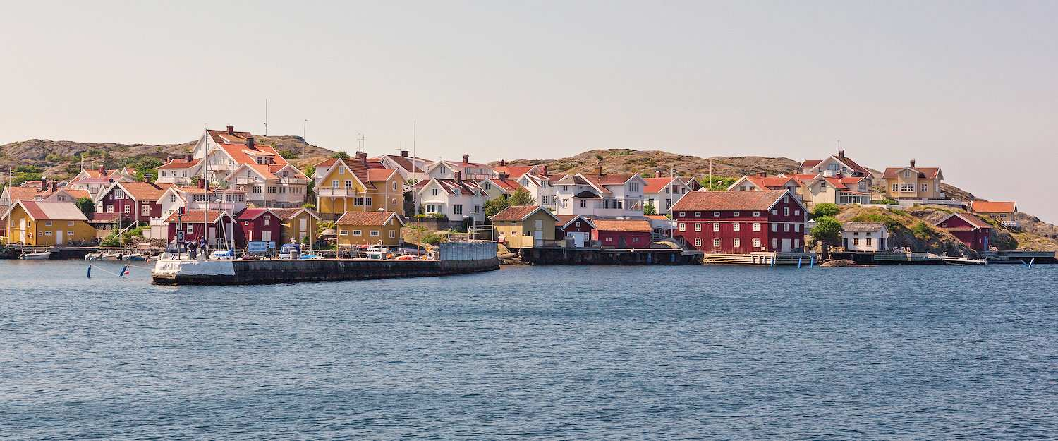 View of the harbour of Bohuslän