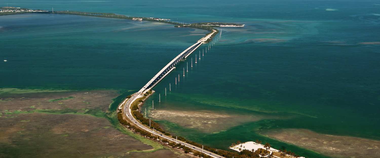 Oversea-Highway inmitten der Florida Keys