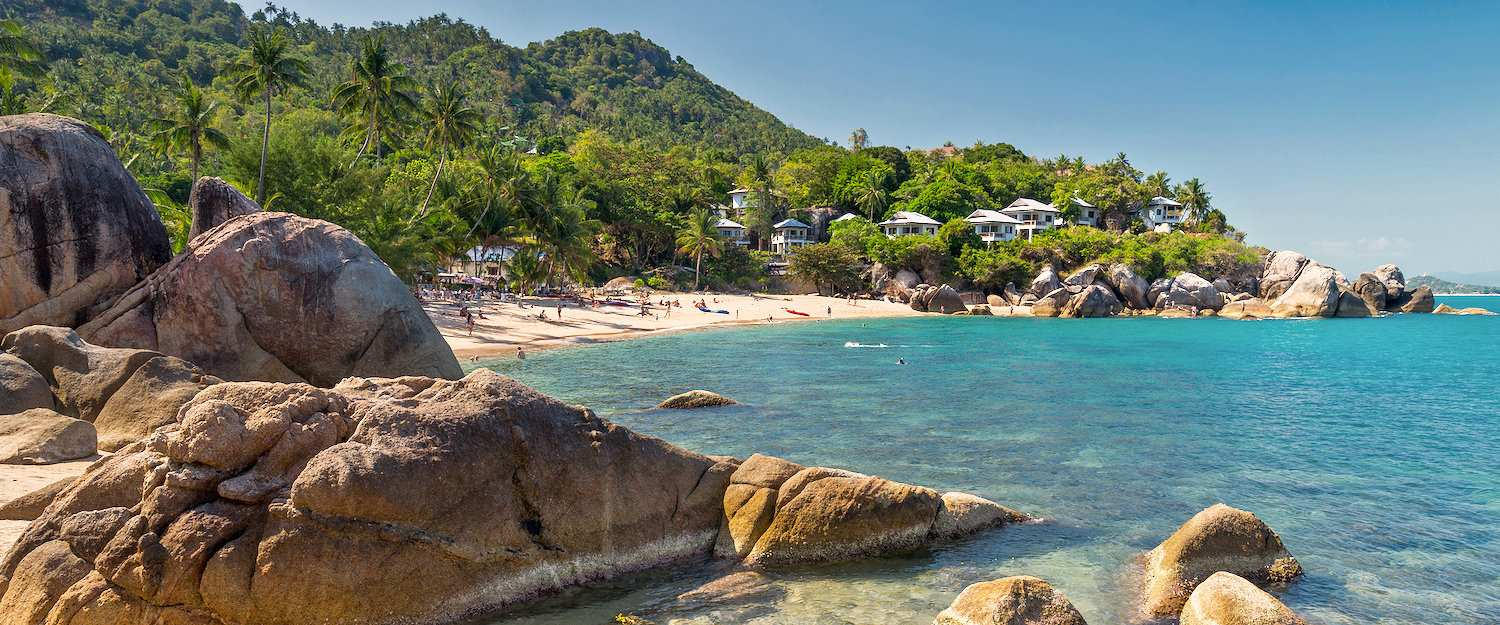 Silver beach on the island of Koh Samui