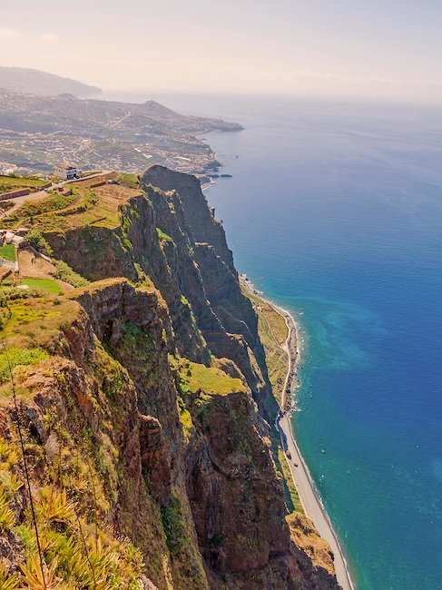 Cabo Girão, largest steep coast of Europe with 580 m