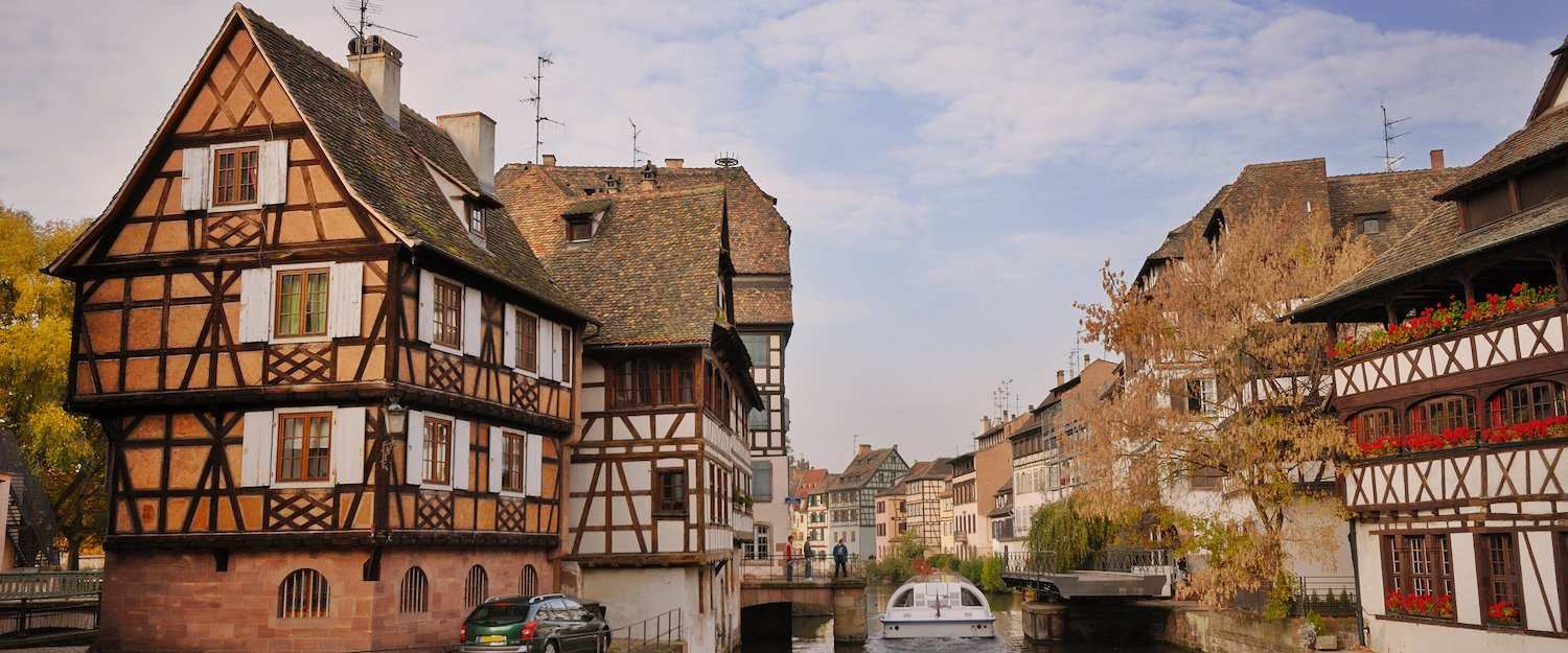 The city of Strasbourg in Alsace