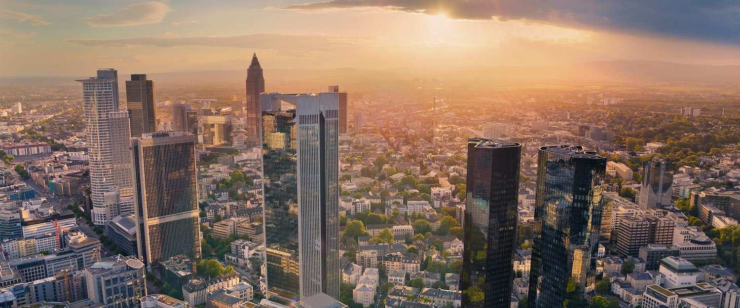 View of the city of Frankfurt from above