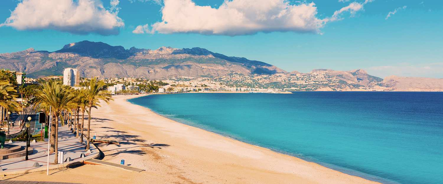La playa de Altea en la Costa Blanca