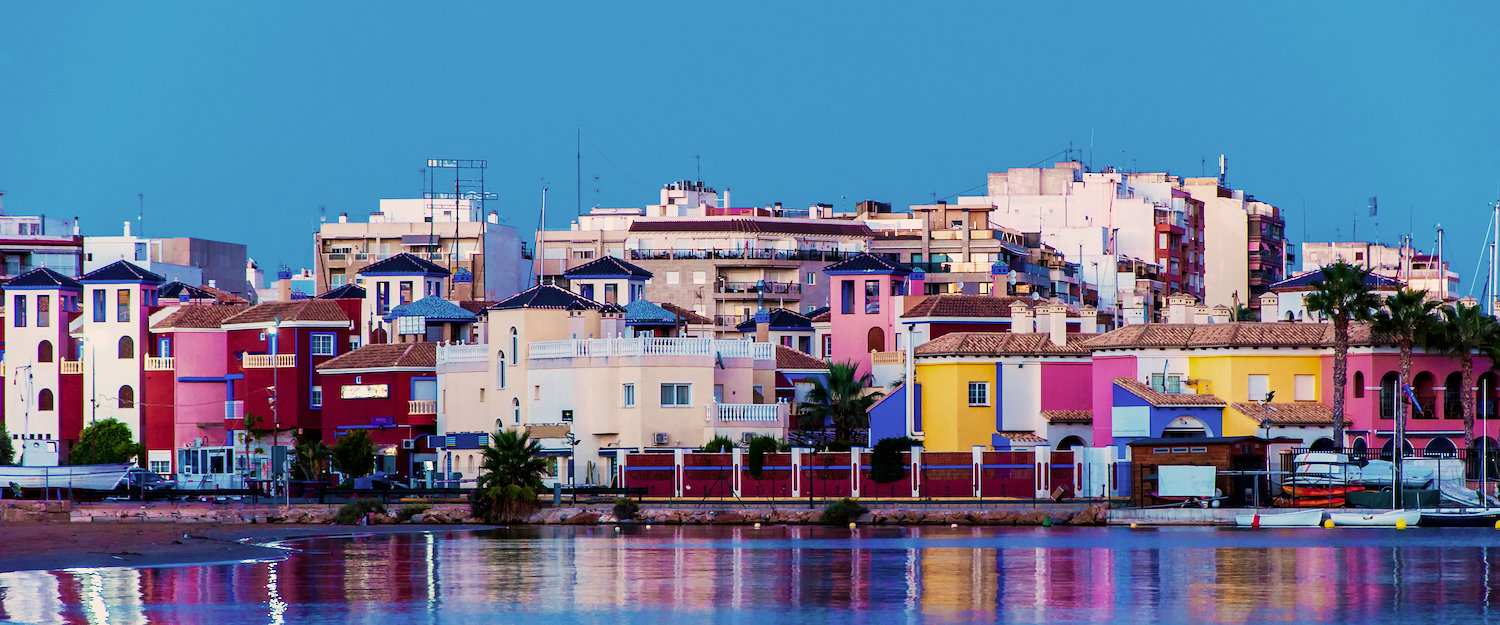 Colorful houses of Torrevieja