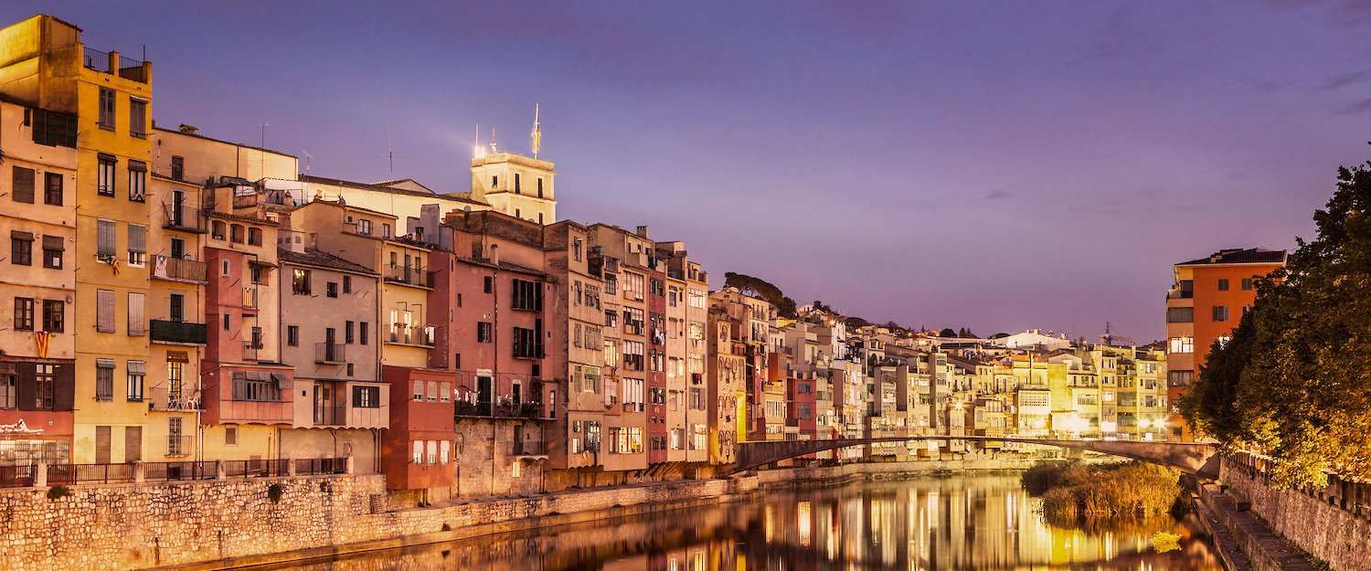 The facades of Girona