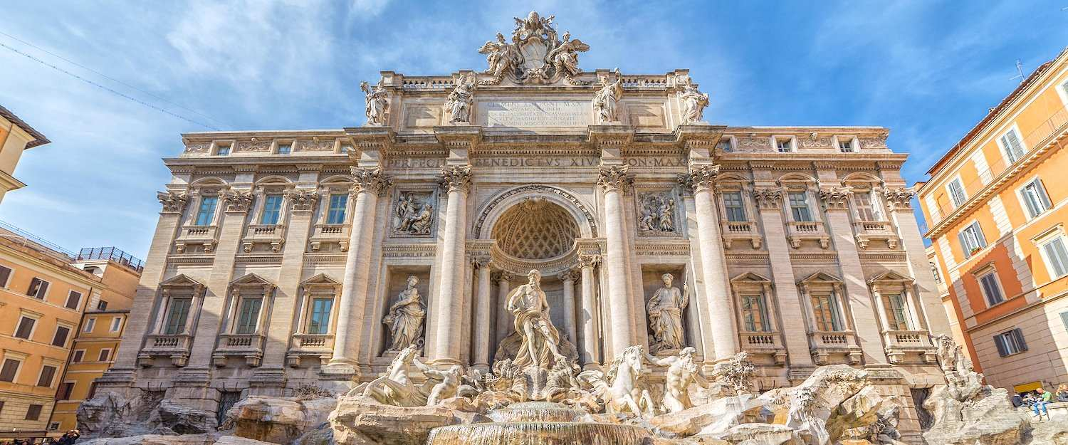 The world-famous Trevi fountain