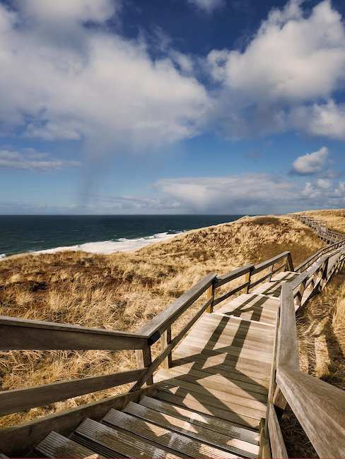 Wooden path on Sylt