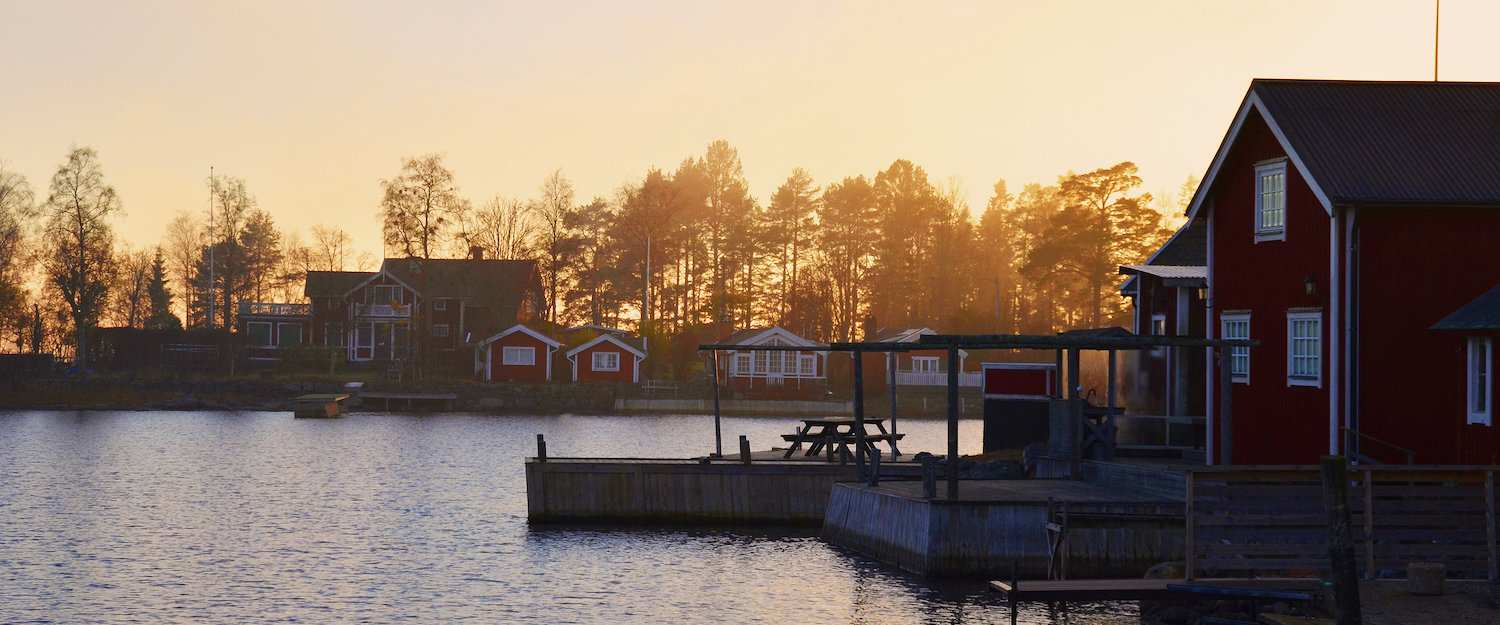 Swedish fishing village on Alnön