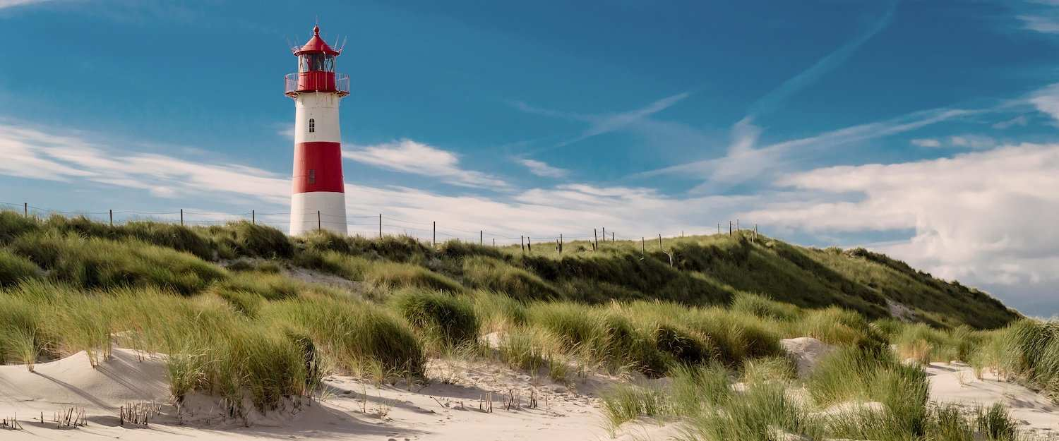 Lighthouse in the dunes of Sylt