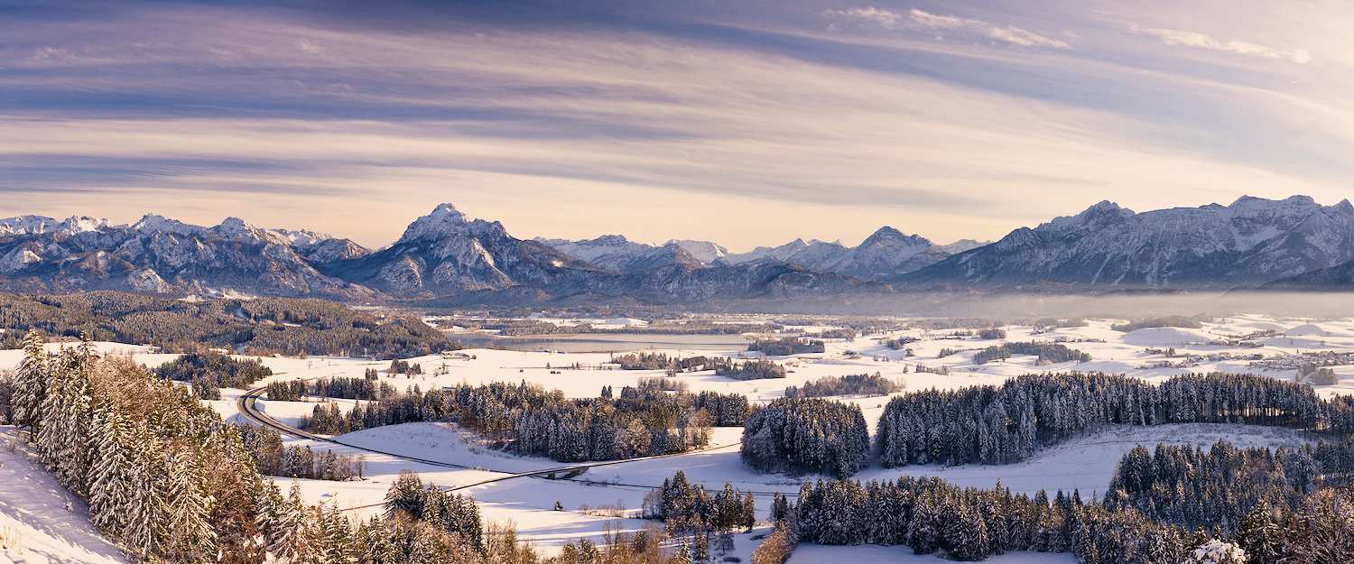 Winter landscape Bavarian Alps