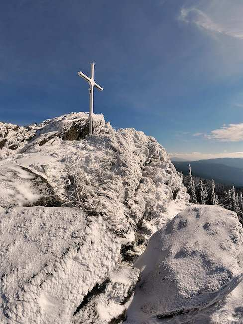 Winter idyll in the Bavarian Forest