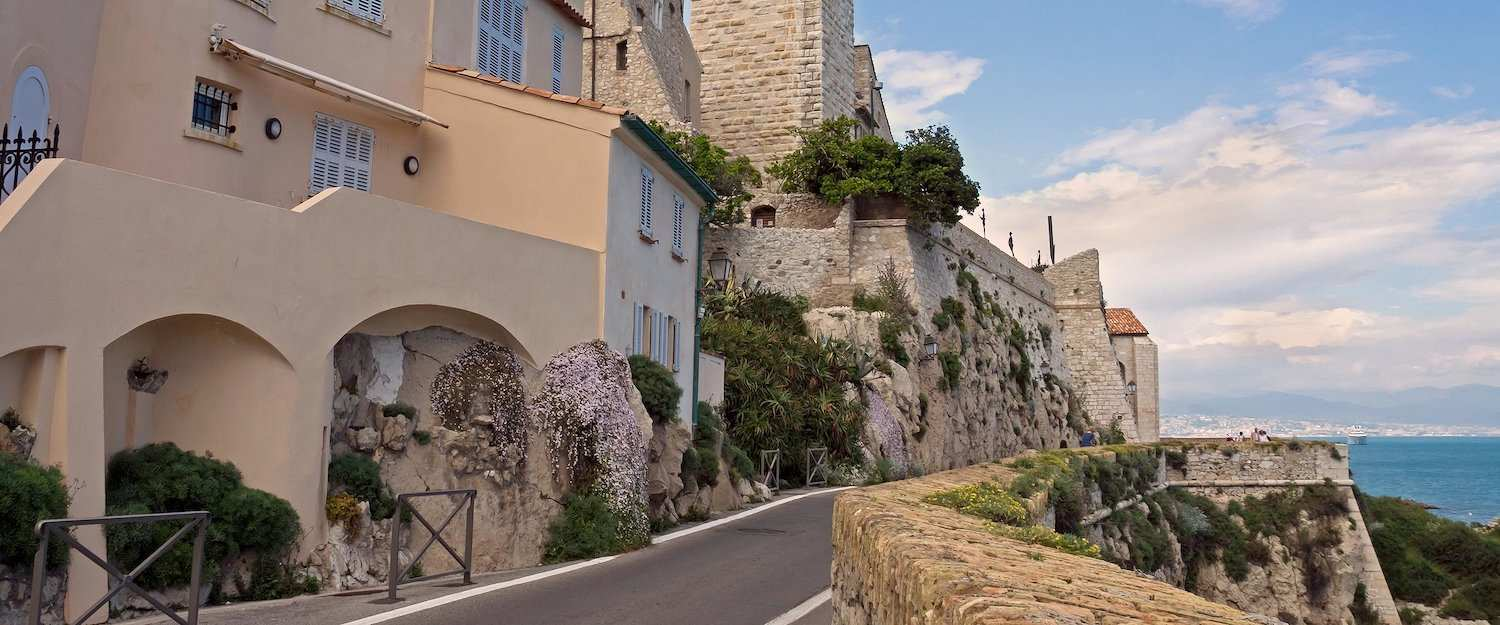 The old town of Antibes situated on the coast of the Ligurian Sea
