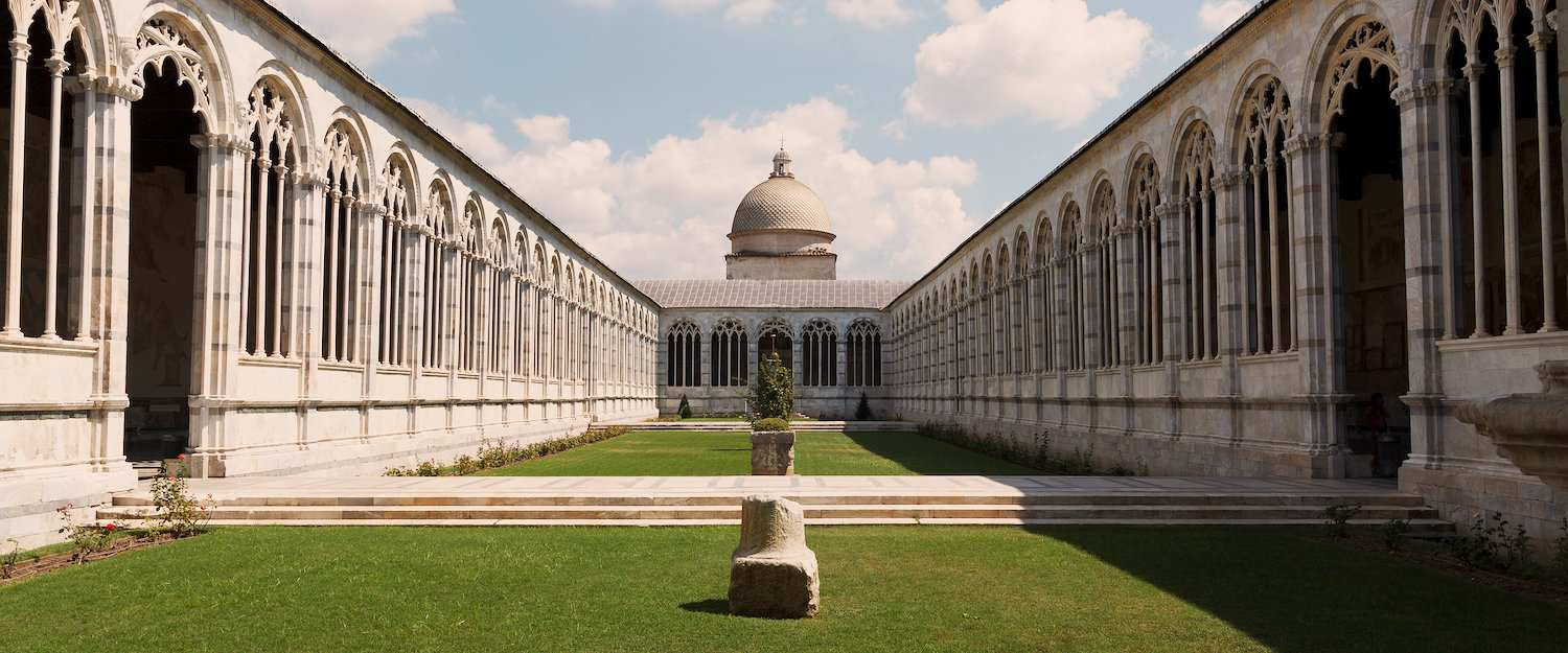 The Camposanto Monumentale, cemetery next to the Cathedral of Pisa