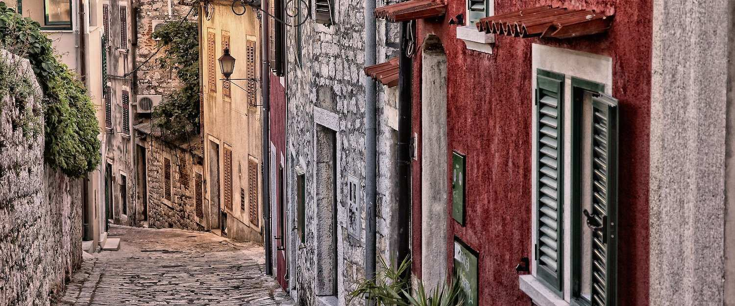 The charming old town of Rovinj.