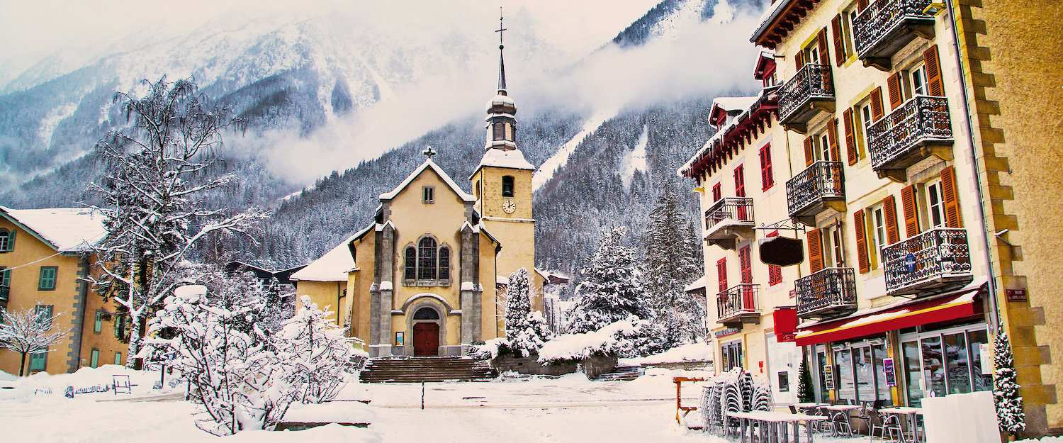 Church in Chamonix Ski Resort