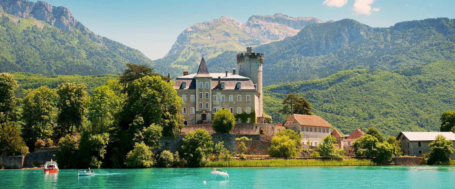 Old manor house at lake Annecy