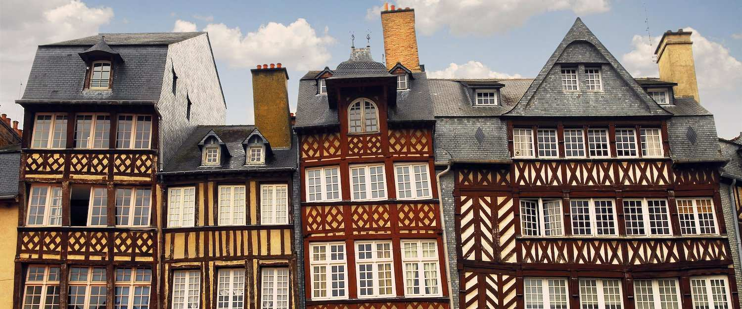 Traditional house facade in Brittany