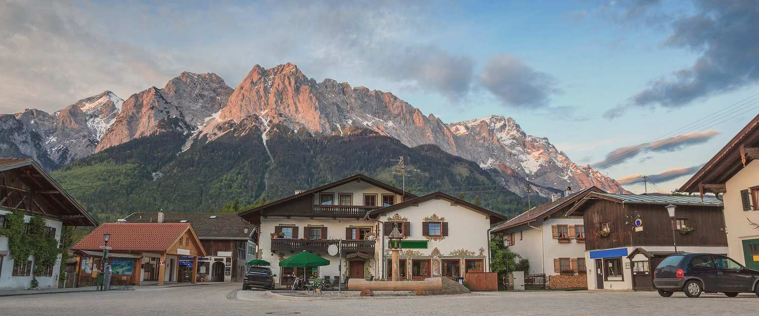 Garmisch-Partenkirchen with great alpine scenery
