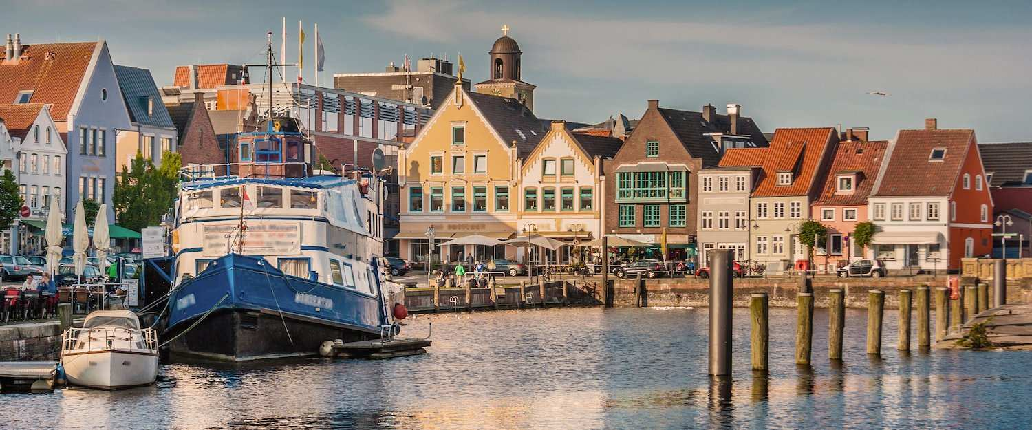 De haven van Husum