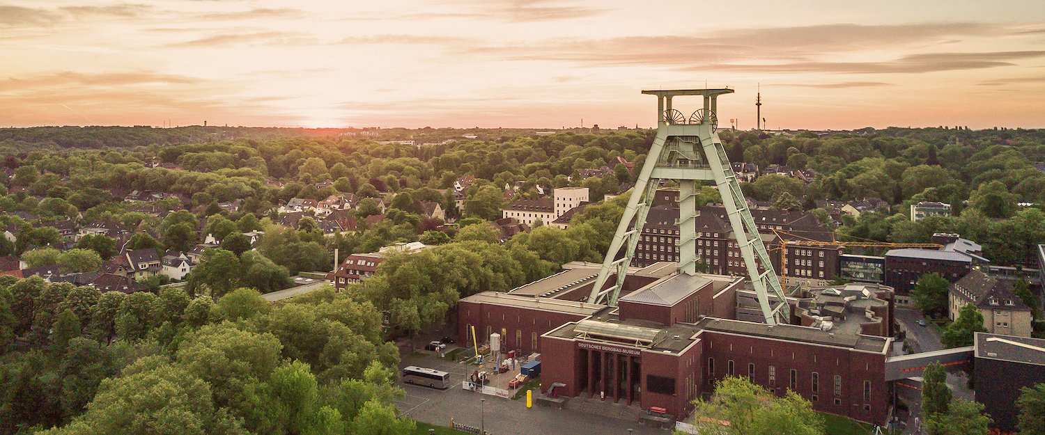Bochum from above with the mining museum