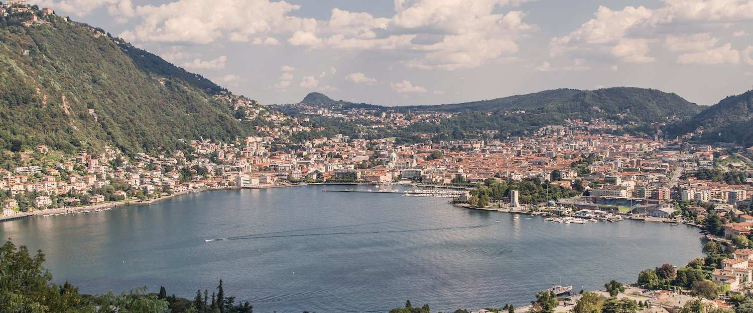 Fantastic view of the city of Como