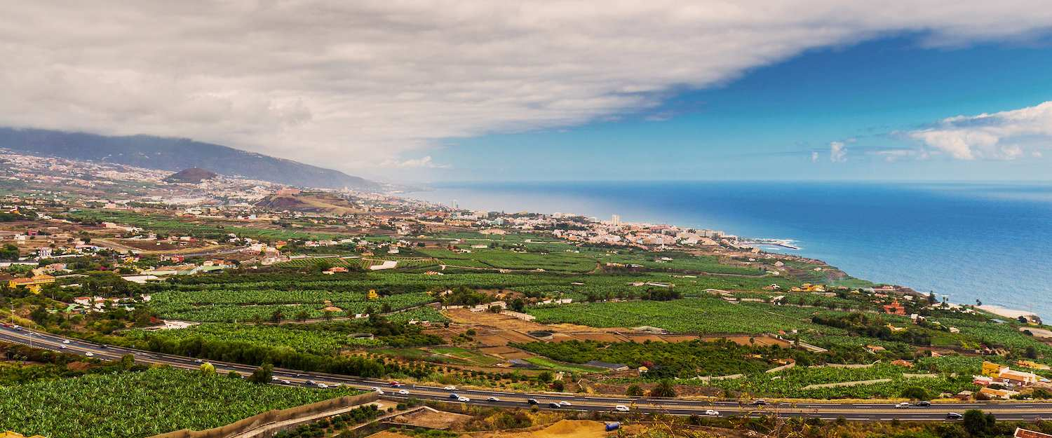 View of the city Orotava on Tenerife