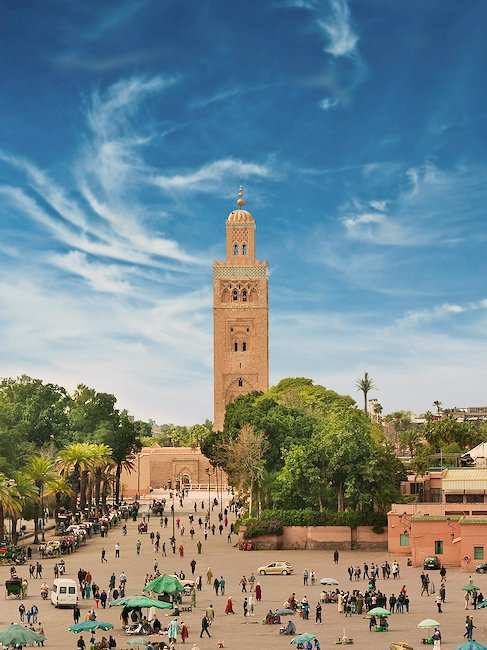 The Minaret of the Koutoubia Mosque in Marrakech