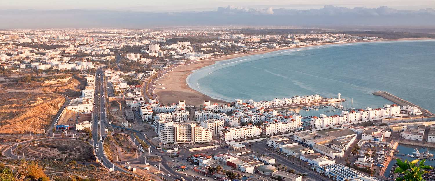 View of the city of Agadir in Morocco