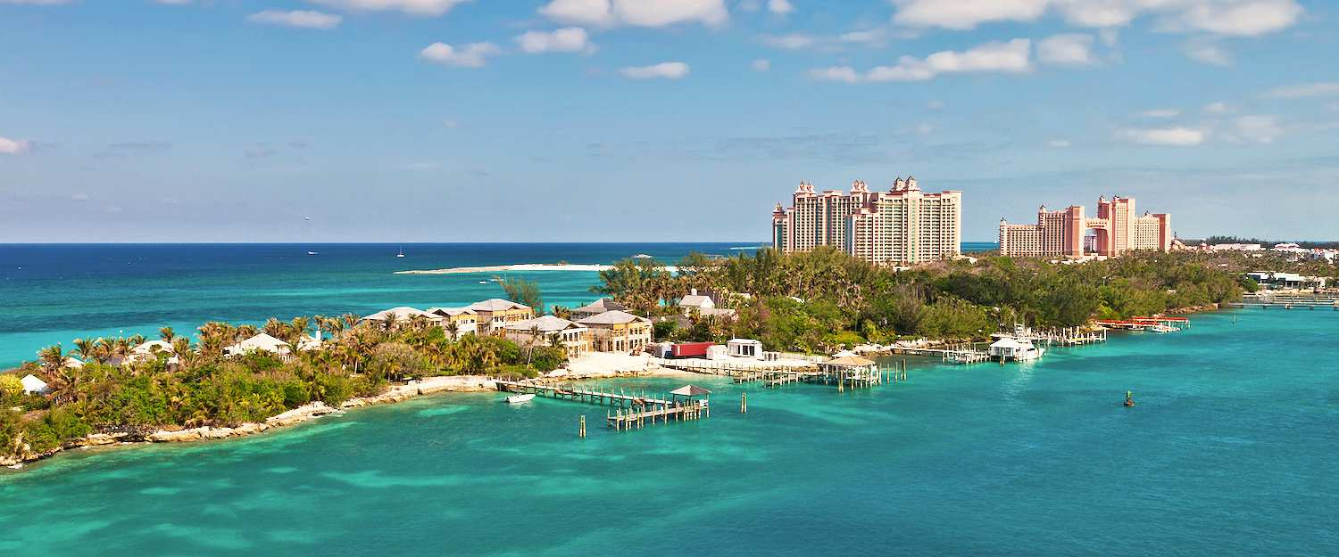 Luxury hotels on the Caribbean island state of Bahamas