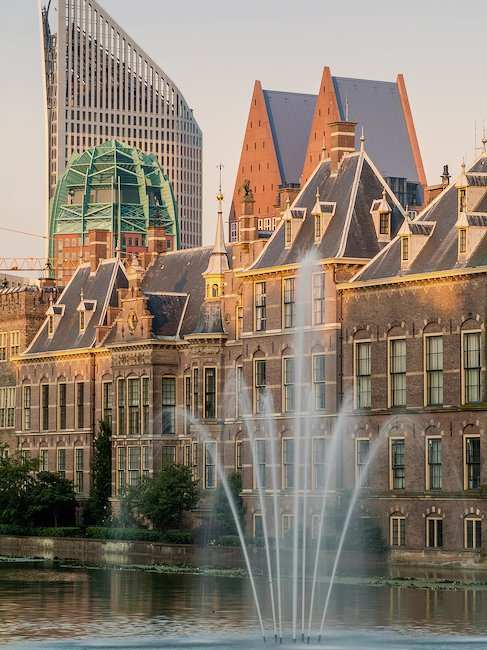 The city centre of The Hague