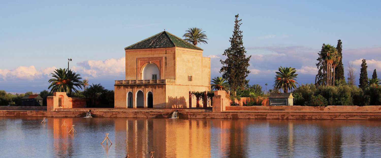 Menara Gardens and Pavilion w Marrakeszu.