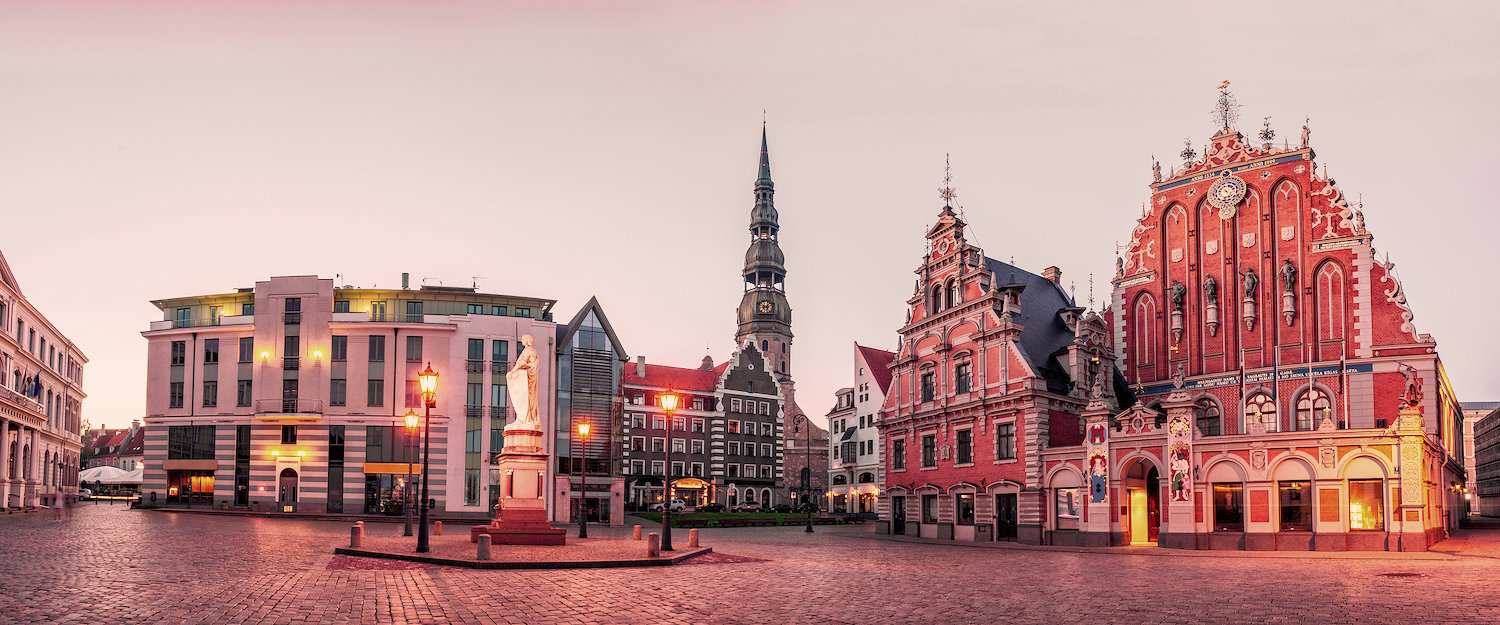 Old town with town hall in Riga