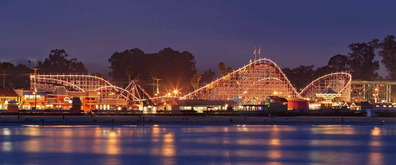 The Giant Dipper roller coaster on the Santa Cruz Boardwalk