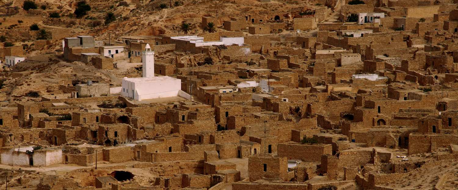 Toujane, a mountain village in Tunisia
