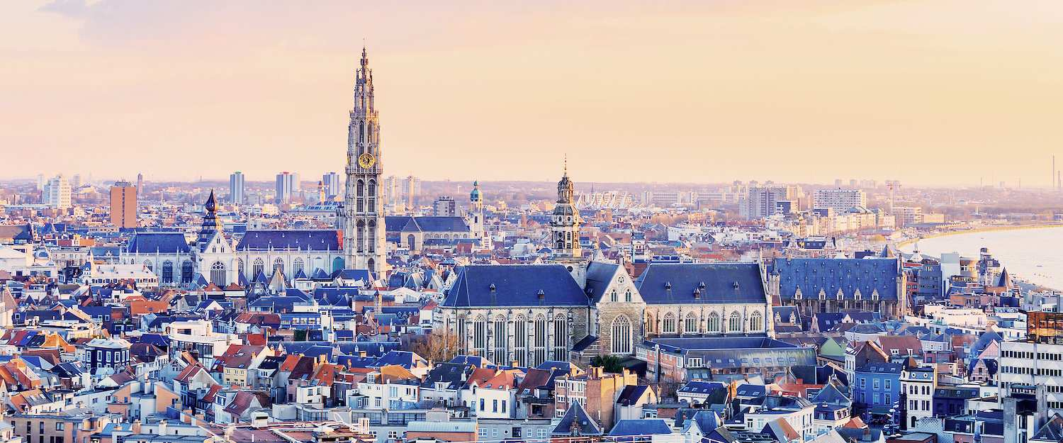 Fantastic view over the old town of Antwerp