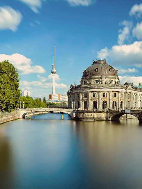The Museum Island with a view of the television tower