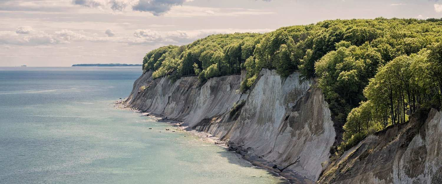 The chalk cliffs on Rügen