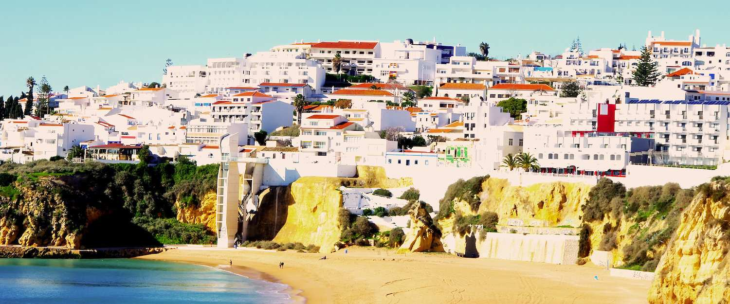 View to the municipality Albufeira north of Faro