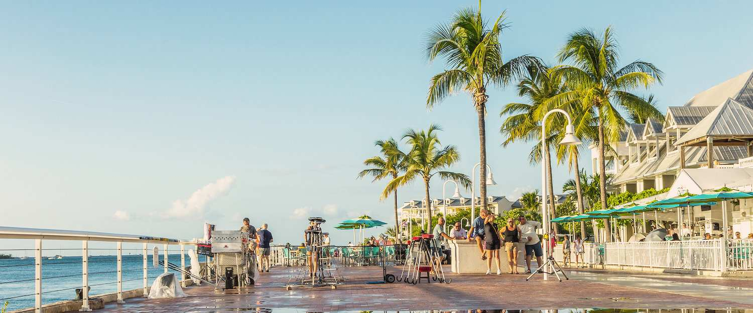 Uitnodigende promenade in Florida