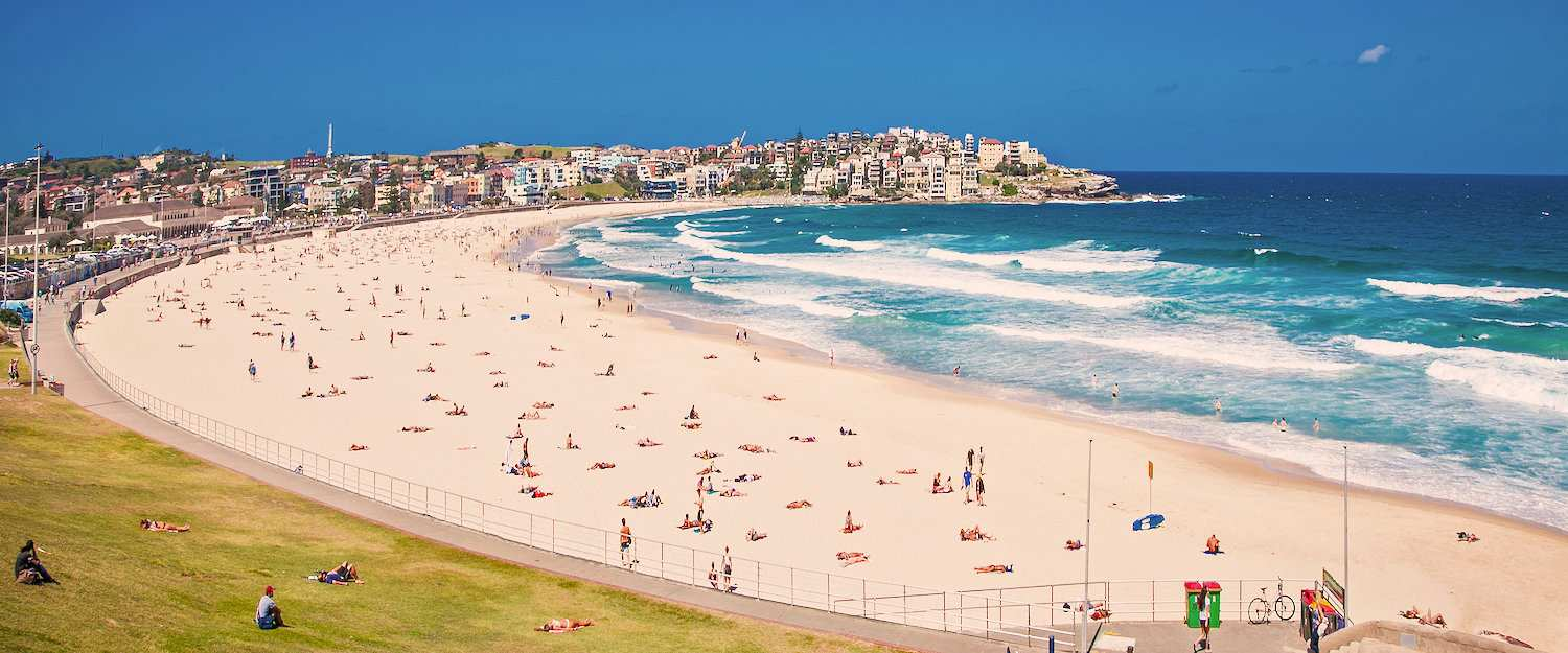 The famous Bondi Beach near Sydney
